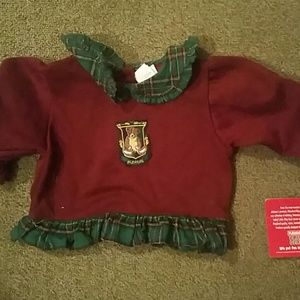 Plays cool Maroon Sweatshirt Girls Size 24th Nwt